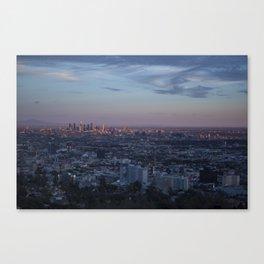 LA Skyline at Sunset Canvas Print