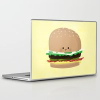 hamburger Laptop & iPad Skins featuring Little Hamburger by ericbennettart