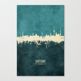 Stuttgart Germany Skyline Canvas Print