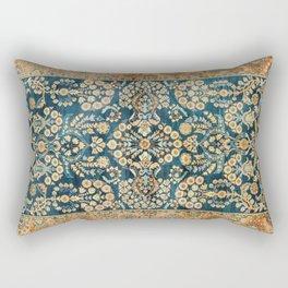 Sarouk  Antique West Persian Rug Print Rectangular Pillow