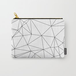 Black and White Geometric Minimalist Pattern Carry-All Pouch