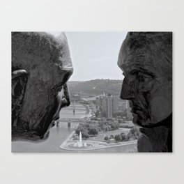 Washington & Guyasuta Canvas Print
