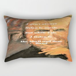 Bukowski, I don't always listen to music, but when I do, I listen to the Skull and Bone Band Rectangular Pillow
