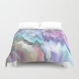 Vibrating Glitch Pastels Duvet Cover