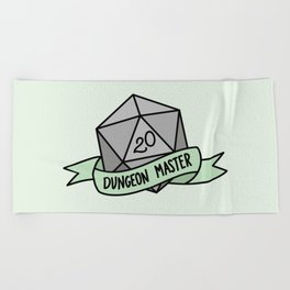 Dungeon Master D20 Beach Towel