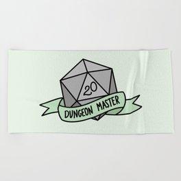 Dungeon Master D20 Beach Towel