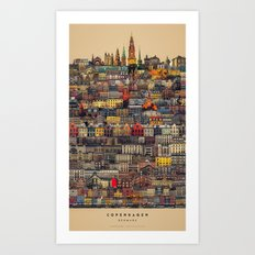 Copenhagen Facades Art Print