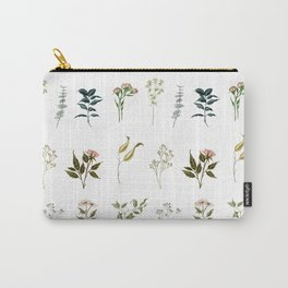 Delicate Floral Pieces Carry-All Pouch