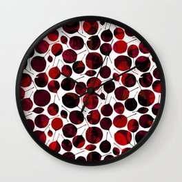 nice-feuilles-Rouge Wall Clock