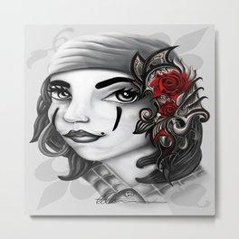 Gypsy lady design Metal Print