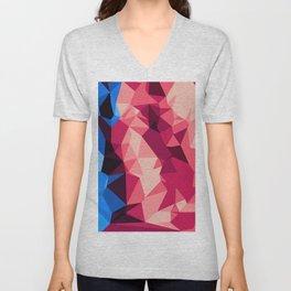 orange blue and pink modern abstract background Unisex V-Neck