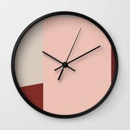 Nude and Burgundy Wall Clock