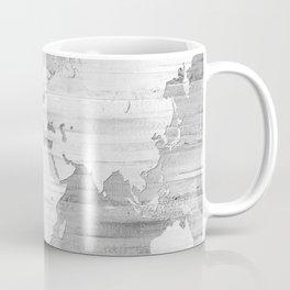 Design 119 Grayscale World Map Coffee Mug