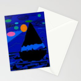 Night sail... Stationery Cards