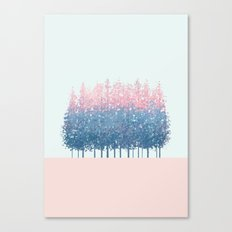 pink and blue trees Canvas Print