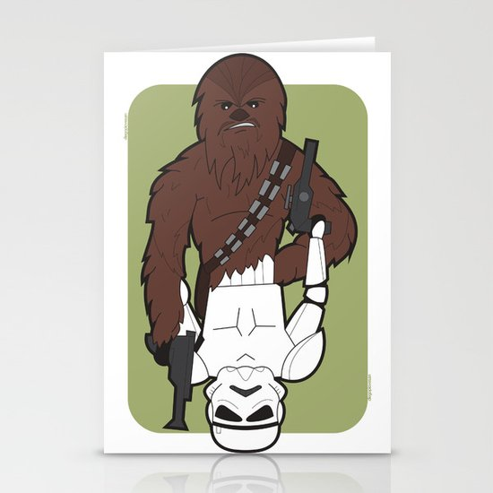 Chewbacca and Stormtrooper Stationery Cards