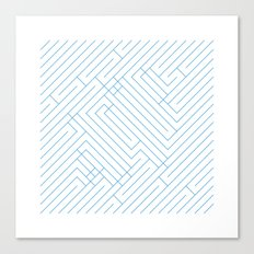 #194 Maze – Geometry Daily Canvas Print