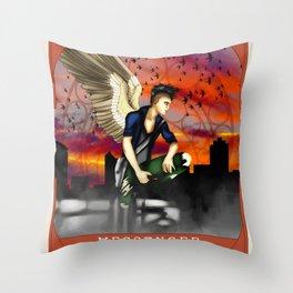 Wings Of Faith : Messenger Throw Pillow