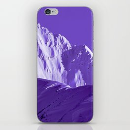 Alaskan Mts. I, Bathed in Purple iPhone Skin
