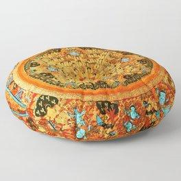Buddhist Mandala 45 Ashta Bhairava Floor Pillow
