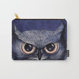 La Sagesse du Hibou (The Blue Owl) Carry-All Pouch