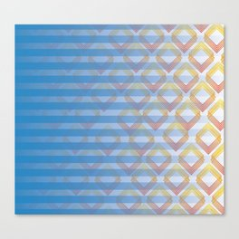 burning stripes Canvas Print