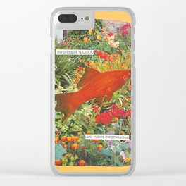 the pressure is good Clear iPhone Case