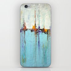 """Abstract White and Blue Painting – Textured Art – """"Sailing""""  iPhone & iPod Skin"""