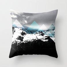 Mountains IV Throw Pillow