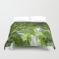 jewish Duvet Covers featuring Leaves and Lace by Brown Eyed Lady