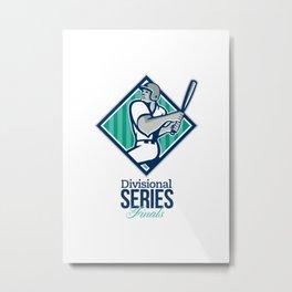 Divisional Baseball Series Finals Retro Metal Print