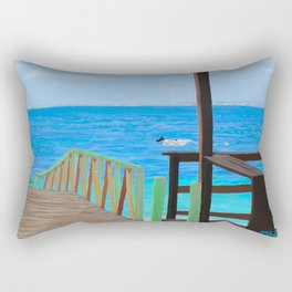 Lookout along Grand Case Beach Rectangular Pillow