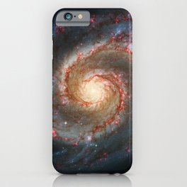 Whirlpool Galaxy and Companion Galaxy iPhone Case