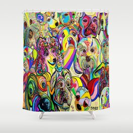 Dogs, DOGS, DOGS!! Shower Curtain