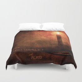 IS THERE A PERFECT WORLD? Duvet Cover