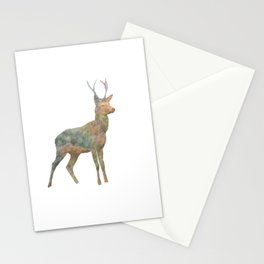Young Stag double exposure Stationery Cards