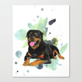 Rottweiler happy Canvas Print