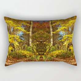 Fall's Golden Moments, an October vignette Rectangular Pillow
