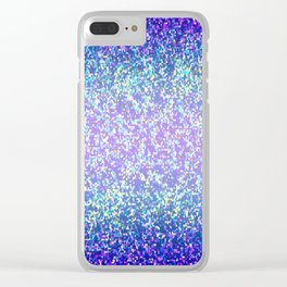 Glitter Graphic Background G105 Clear iPhone Case