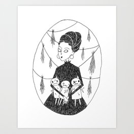 Voodoo Witch Art Print