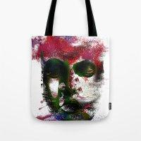 no face Tote Bags featuring Face by Marian - Claudiu Bortan