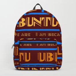 Ubuntu Unity In Swahili Red Background And Yellow Text Backpack