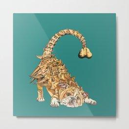 Ankylosaurus Bulldog Metal Print