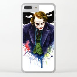 Angel Of Chaos (The Joker) Clear iPhone Case