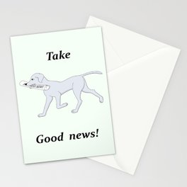 post dog with newspaper Stationery Cards