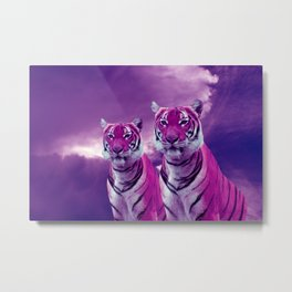 Purple Tiger Metal Print