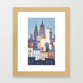 NYC stacked Framed Art Print