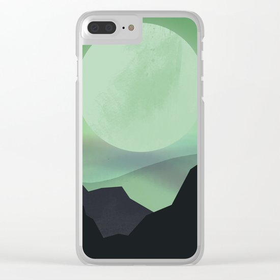 Hazy Mountains Clear iPhone Case
