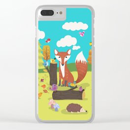 Forest Friends Fall Frolic Clear iPhone Case
