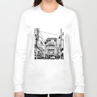 china Long Sleeve T-shirts featuring Yokohama - China town by parisian samurai studio